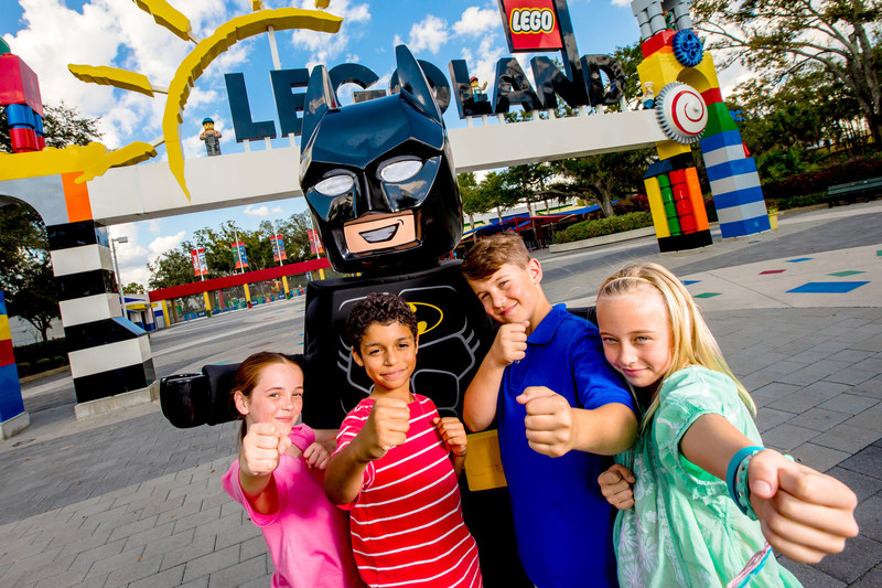 """The LEGO(R) Batman(TM) Movie Days promise epic fun for kids and families at LEGOLAND Parks and LEGOLAND Discovery Centers worldwide, with everything centered on the beloved crime-fighter who claims he """"only works in black. And sometimes, very, very dark gray."""""""