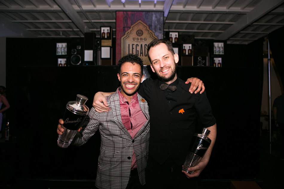 The National Finalists of the sixth annual USBG Legacy Cocktail Showcase sponsored by BACARDÍ rum: Darnell Holguin of NYC & Ryan Wainwright of LA