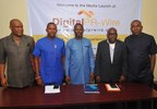 (L-r): Mr. Chuddy Oduenyi‎, MD, Compact Communications; Mr. Ifeanyi Aniagoh, Senior Special Adviser to Gov. Willie Obiano on Social Media; Mr. Celestine Achi, founder/CEO, Cihan Group; Mr. Muyiwa Akintunde, vice president, PRCAN and Mr. Ikem‎ Okuhu, Lead Director, Reliks Media Ltd., at the media launch of DigitalPRWire on Tuesday, February 14, 2017 in Lagos. (PRNewsFoto/Cihan Group)