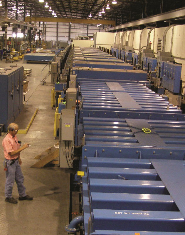 Vitro Architectural Glass (formerly PPG Glass) has selected its Wichita Falls, Texas plant to be the site of a new jumbo magnetron sputtered vacuum deposition (MSVD) glass coater, expected to be the largest of its kind in North America. Groundbreaking is slated for April. The facility's MSVD coater for conventionally sized glass is pictured above. The jumbo coater will enable Vitro Glass to produce high-performing, energy-efficient low-emissivity (low-e) glasses in the larger sizes desired by today's building designers.
