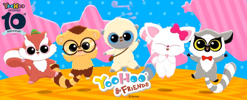 Aurora World, a global leader in plush toys and high-quality gift products, celebrates the 10th anniversary of YooHoo(R) & Friends