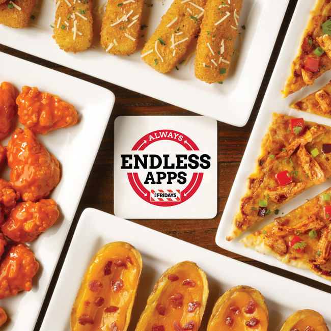TGI Fridays Endless Apps are now available for an unlimited time.