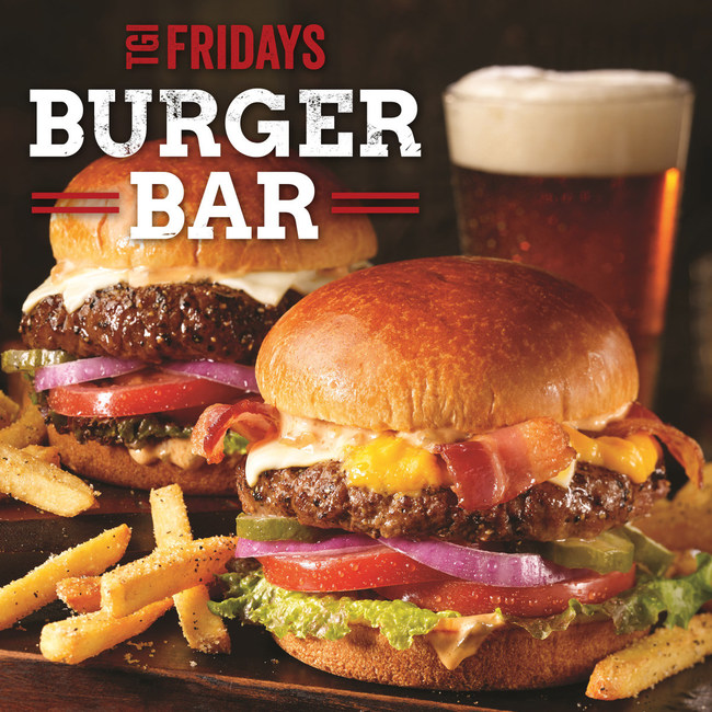 TGI Fridays Burger Bar features seven new fresh, all-natural, USDA Choice burgers.