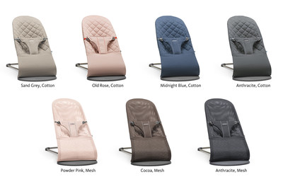 Bouncer Bliss will be available in two new looks - luxurious, quilted cotton in four lavish colors, and a lightweight, soft mesh in three fresh, modern colors.