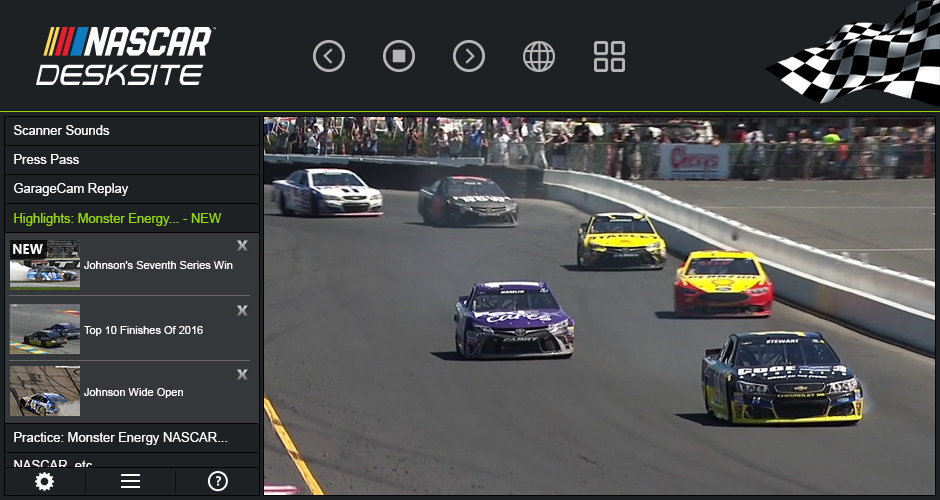 Never Miss a Video with the NASCAR DeskSite