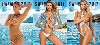 Time Inc.'s Sports Illustrated Swimsuit 2017 Launches With Reveal Of Kate Upton On Three Different Covers - A Swimsuit First