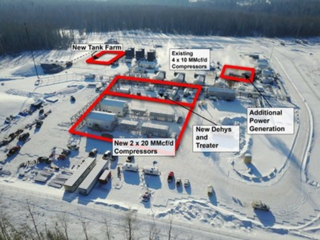 Karr Gold Creek 6-18 Compression and Dehydration Facility (February 6, 2017) (CNW Group/Paramount Resources Ltd.)