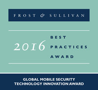 Frost & Sullivan recognizes Coronet Cyber Security with the 2016 Global Technology Innovation Award. (PRNewsFoto/Frost & Sullivan)