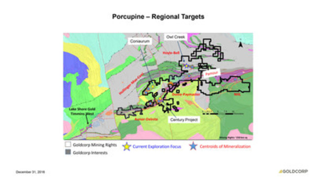 Porcupine - Regional Targets (CNW Group/Goldcorp Inc.)