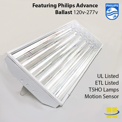6-Lamp open T5 fluorescent high bay with Philips advance ballast