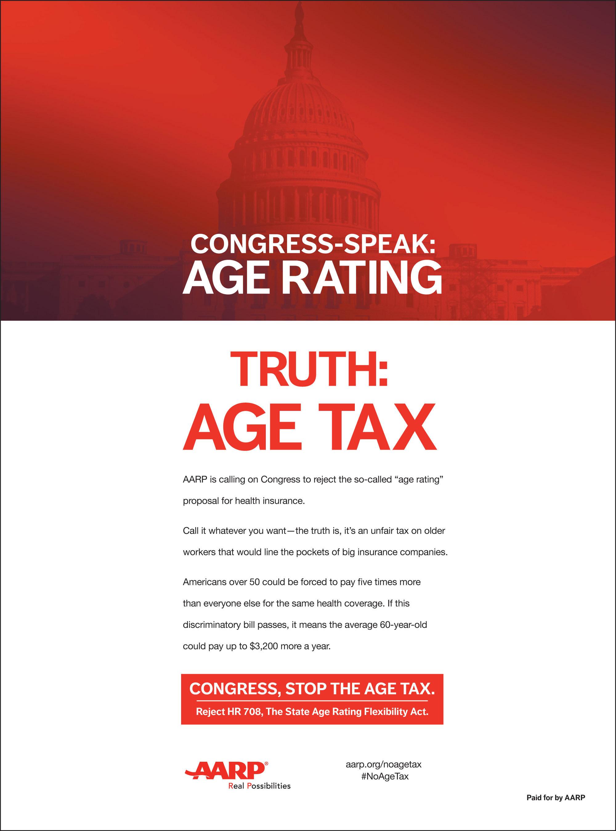 AARP Age Tax Ad