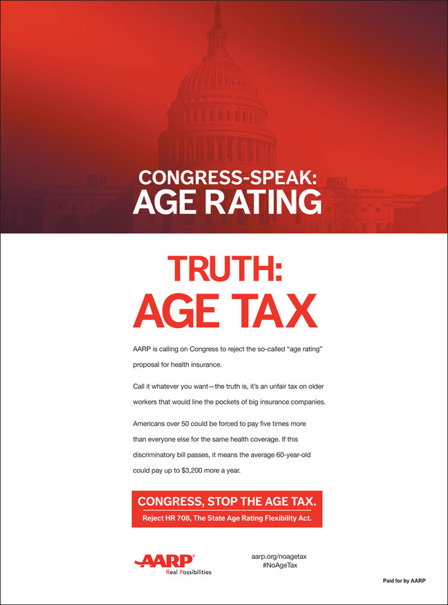 AARP Age Tax Ad