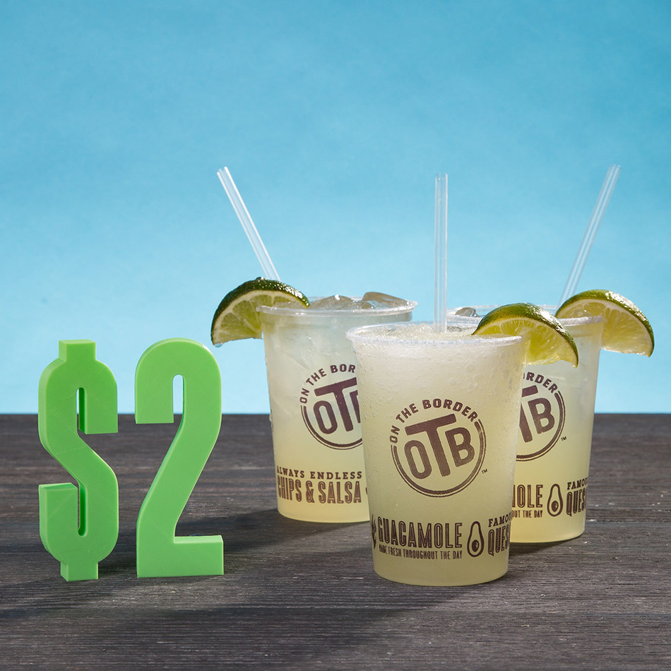 On The Border Mexican Grill & Cantina(R) celebrates National Margarita Day with $2 House Margaritas.