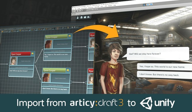 Easily import from articy:draft to Unity