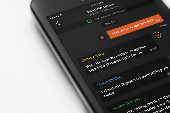 SaltDNA's latest feature, message archiving is now available