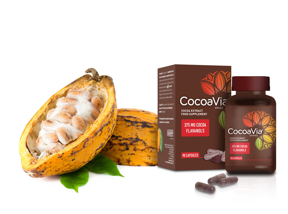 CocoaVia(R) food supplement available in the UK & Ireland in February 2017 (PRNewsFoto/Mars, Incorporated)