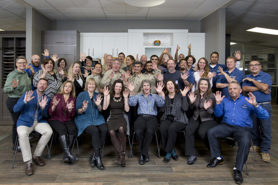 "36 Joyful Employee Owners celebrating the news we are now ""Certified EO"".  A significant achievement for our 100% Employee-Owned company."