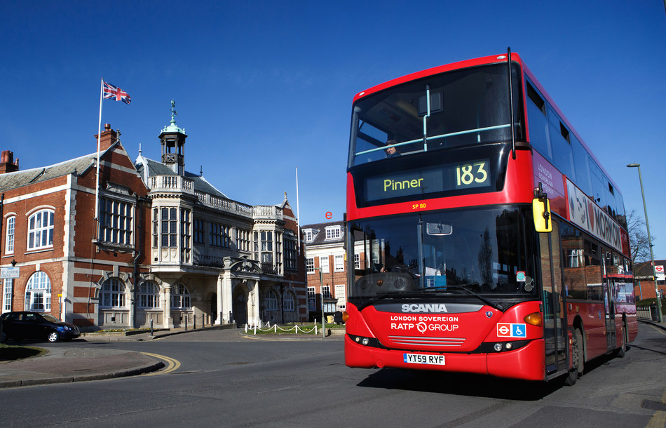 Iconic red buses of London Sovereign now equipped with Lytx DriveCam video telematics, improving safe driving performance.