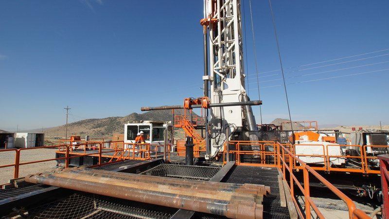 "The Boart Longyear LR500 is one of the largest rigs in the Boart Longyear Drilling Services fleet. A fully electric rig, the LR500 offers quieter operation, hands-free rod handling, climate-controlled operator's cab and offers the straightest holes as automatic controls adjust the weight on bit minimizing deviation. The LR500 can drill holes up to 60"" in diameter while continuously drilling 24"" in completion wells up to 5000 feet deep."