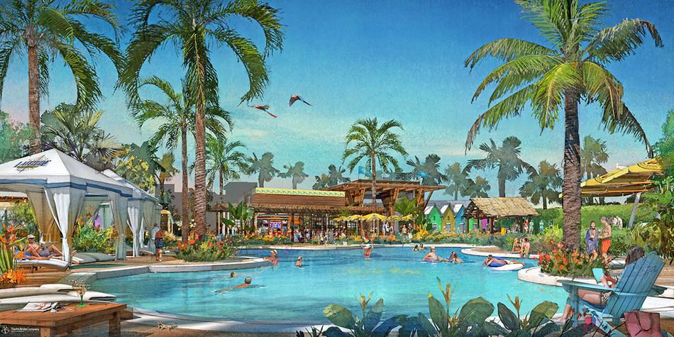 Latitude Margaritaville Town Center Pool Rendering
