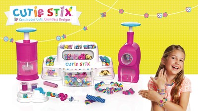 The Cutie Stix Cut & Create Station empowers girls to express themselves and show off their personal fashion statements via an endless combination of adorable bead designs.
