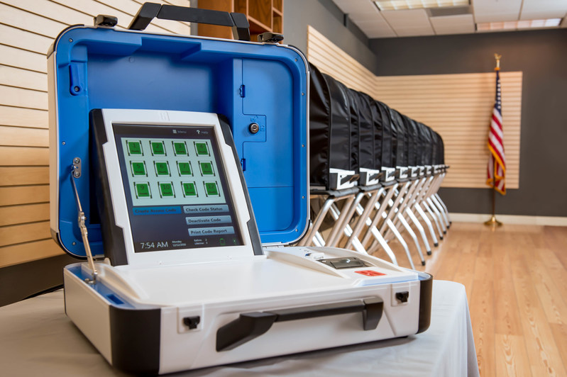 Hart's unique controller model brings efficiency to the polling place by allowing officials to manage up to 12 voting terminals from a single console. The Verity Voting system greatly simplifies election administration and makes voting easy and accessible for voters.