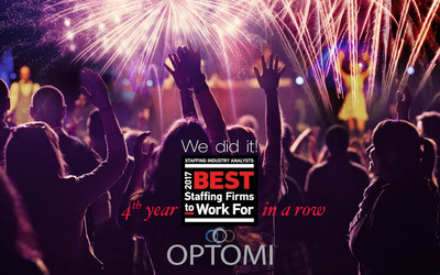 Optomi wins 2017 Best Staffing Firms to Work For award
