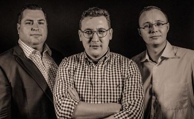 (L-R) Xsolla Capital partners - Brett Brown, Aleksandr Agapitov, Dmitri Bourkovski