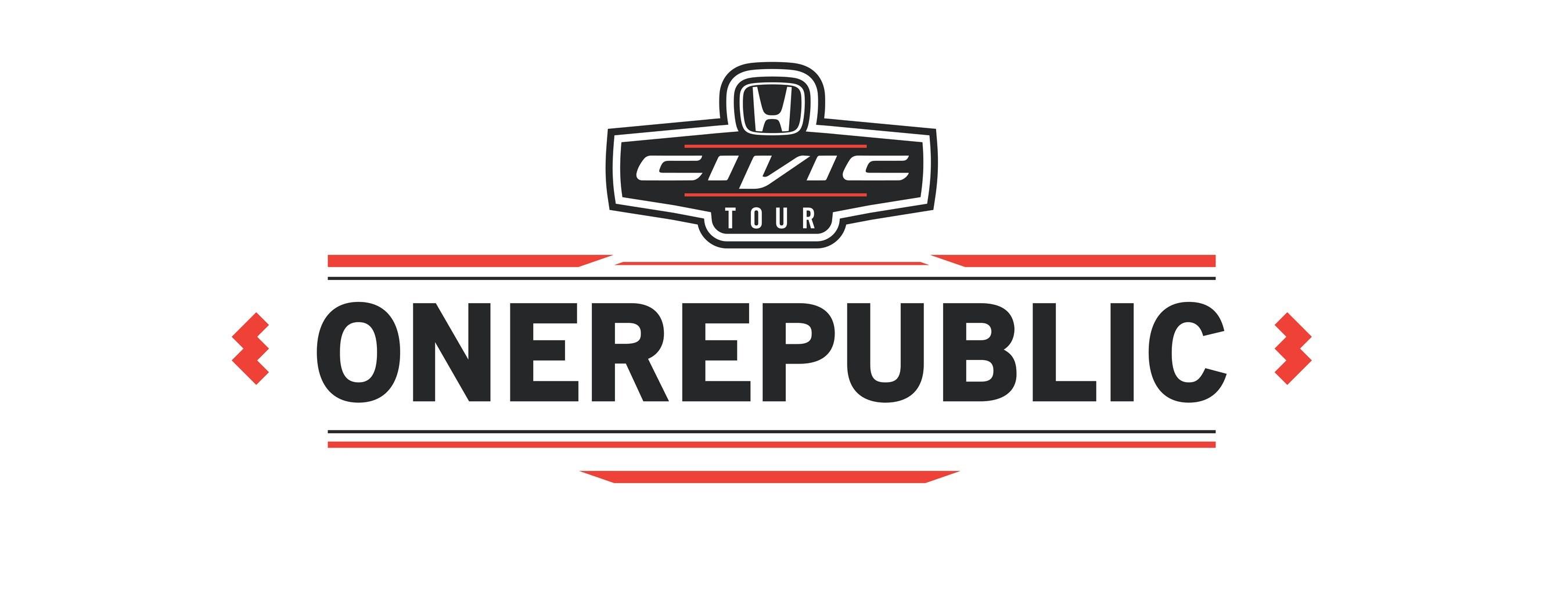 Onerepublic to headline 2017 honda civic tour for American honda motor co