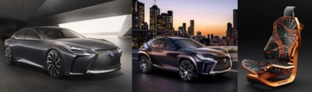 Lexus reveals its UX Concept –- the future of the compact SUV - and the forward-thinking Hydrogen-powered LF-FC flagship sedan in Canada at Toronto''s Canadian International Auto Show. (CNW Group/Lexus)