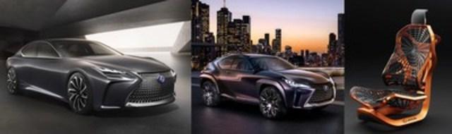 Lexus dévoile son concept UX, le futur des VUS compacts, ainsi que la berline porte-étendard avant-gardiste LF-FC à hydrogène au Salon de l''Auto Canadien International de Toronto. (Groupe CNW/Lexus)