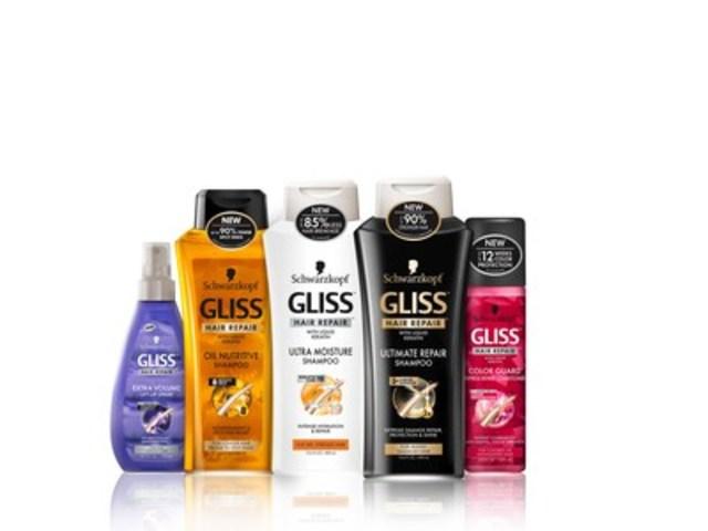 GLISS(MC), une gamme de produits régénération capillaire de Schwarzkopf de renommée mondiale, lance sa technologie à base de kératine identique aux cheveux naturels dans les Pharmaprix/Shoppers Drug Mart au Canada. (Groupe CNW/Henkel Canada)