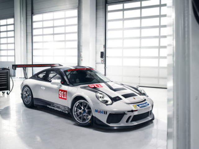 A new edition of the world's best-selling racing car, the Porsche 911 GT3 Cup, will take to the racing line in 2017. (CNW Group/Porsche Cars Canada)