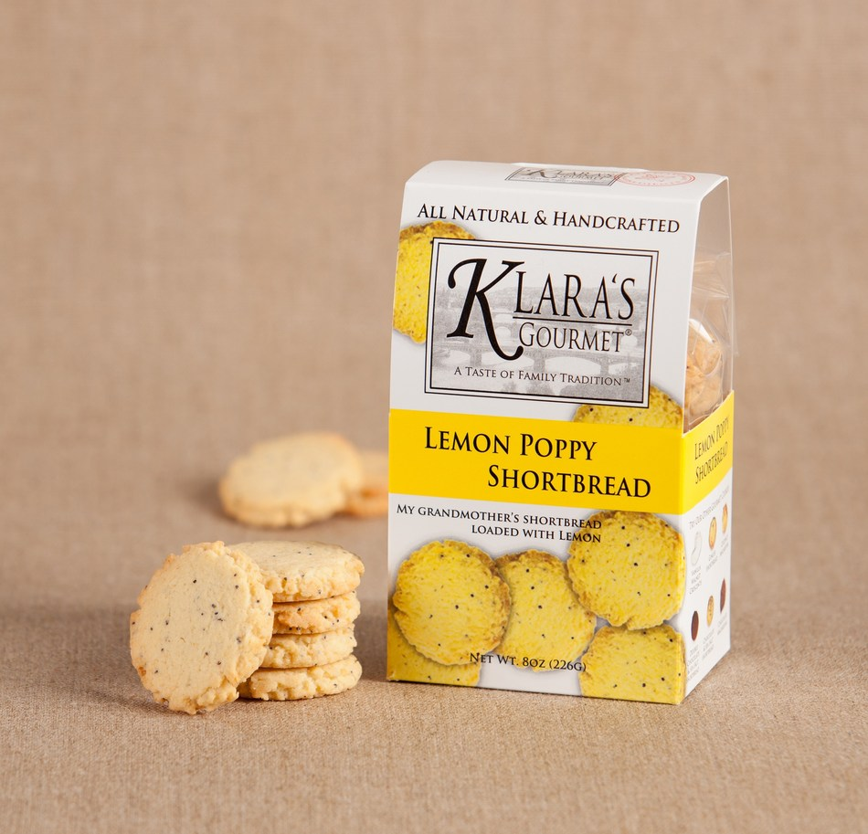 Lemon Poppy Shortbread Cookies by Klara's Gourmet
