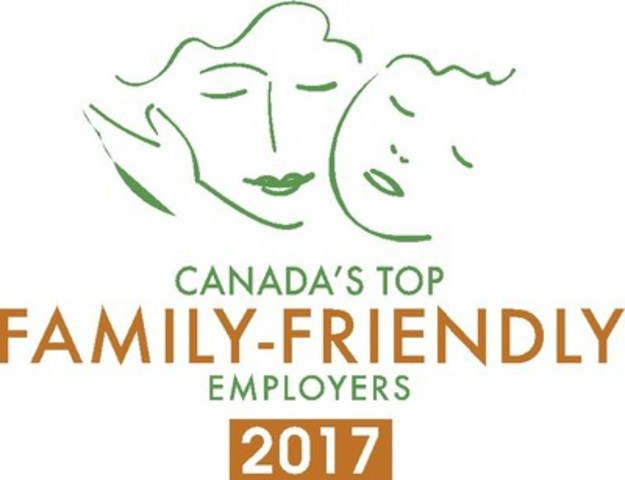 Canada's Top Family-Friendly Employers 2017 (CNW Group/Mediacorp Canada Inc.)