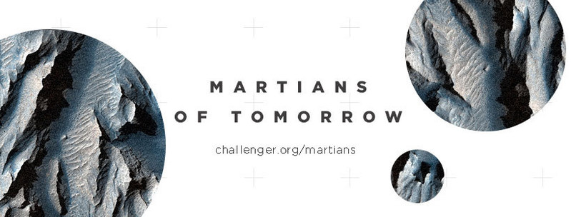 "Challenger Center announced the launch of ""Martians of Tomorrow,"" a campaign to raise awareness about the importance of science, technology, engineering and math (STEM) education and inspiring the next generation. Parents, teachers, community members, education leaders, organizations and professionals alike are encouraged to visit www.challenger.org/martians and take a pledge to support students on their journey to become future STEM leaders."