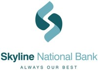 Skyline National Bank logo and tagline