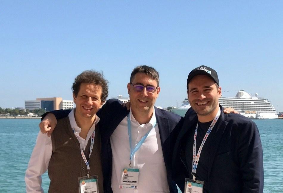 Aton Soumache (CEO of Method Animation), Diego Ibanez (International Commercial Director of Planeta Junior) & Jeremy Zag (CEO of ZAG)- in Miami, Florida