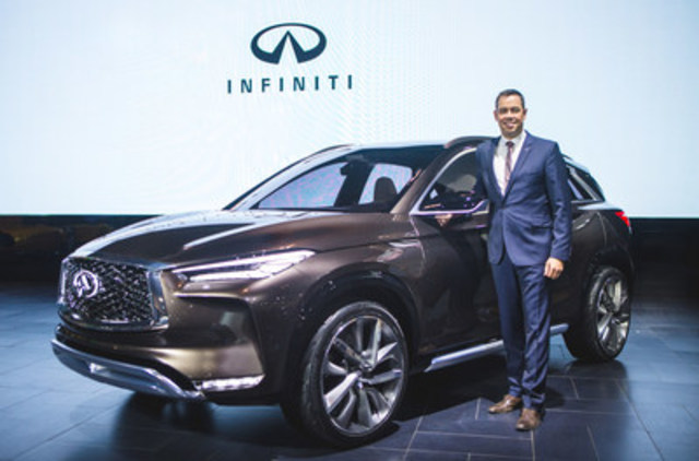Stephen Lester, managing director, INFINITI Canada with the new QX50 Concept at the 2017 Canadian International Auto Show (CNW Group/Infiniti)