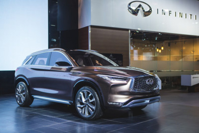 The new QX50 Concept made its national debut at the 2017 Canadian International Auto Show, showcasing INFINITI's vision for a next-generation mid-size premium crossover (CNW Group/Infiniti)