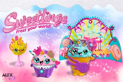 ALEX Toys reveals Sweetlings(TM), a new segment that captures current decorating food trends into a fun and addicting craft, as kids customize their characters with whipped clay and fun accessories.
