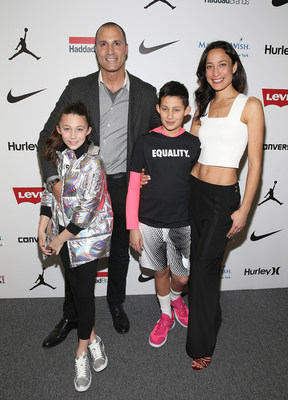 Nigel Barker and Family at Rookie USA Fashion Show on February 15th in New York City