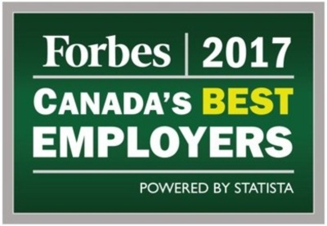 Logo: Forbes 2017 Canada's Best Employers (CNW Group/Commissionaires)