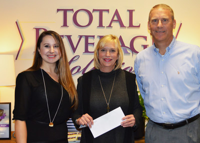 Marina Terzieva, Cindy Hay Johnson of Camp Happy Days and Dave Pardus, CEO of Total Beverage Solution