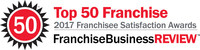 Tint World Automotive Styling Centers earns Franchise Business Review's annual Franchisee Satisfaction Award - Best Franchise Opportunities for 2017.