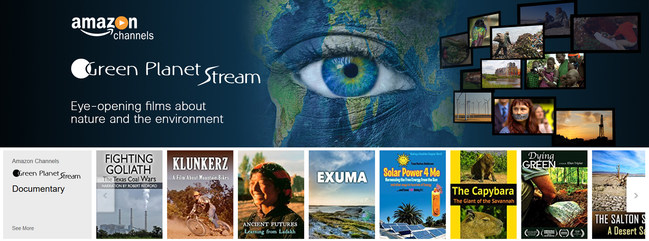 IMAGE: Green Planet Stream's Amazon Channel landing page. Non-profit environmental film distributor Green Planet Films entered the home video market by utilizing Amazon Video Direct to create one of the first 100 Amazon Channels that launched.  They also created a self-branded channel which is hosted on the self-service video distribution platform VHX. Evolving technology for self-serve video platforms for premium content has allowed the organization to launch these two channels in six months.