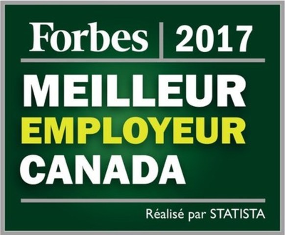 Forbes 2017 meilleur employeur Canada (Groupe CNW/Commissionnaires)