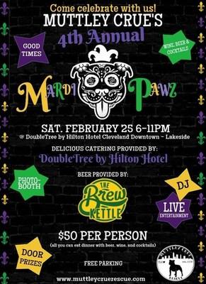 Muttley Crue Rescue Announces 4th Annual Mardi Pawz Fundraiser