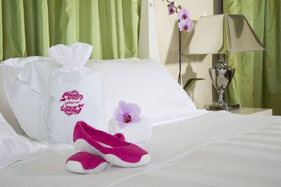 YOKOangel Customizable Hotel & Spa Collection of Luxury Footwear and 100% Cotton Drawstring Pouch