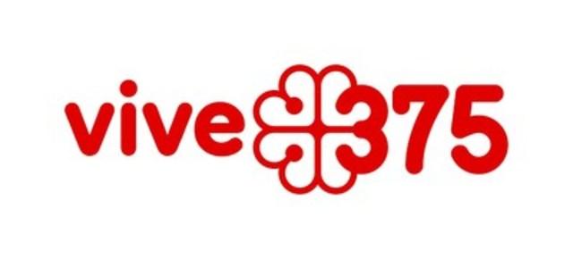 Logo: vive 375 (CNW Group/Société des célébrations du 375e anniversaire de Montréal)